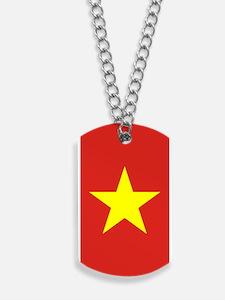 Vietnam Flag Dog Tags