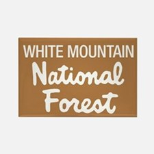 White Mountain (Sign) Nationa Rectangle Magnet