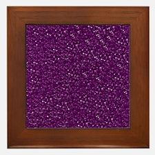 Sparkling Glitter Framed Tile