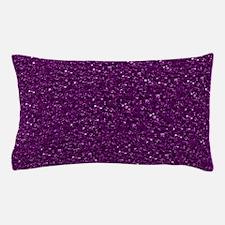 Sparkling Glitter, plum Pillow Case