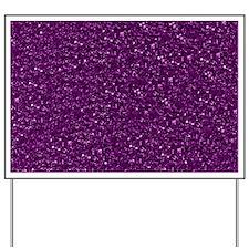 Sparkling Glitter, plum Yard Sign