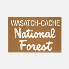 Wasatch-Cache (Sign) National Rectangle Magnet