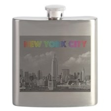 Funny Times square new york city Flask