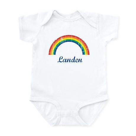 Landen vintage rainbow Infant Bodysuit