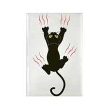 Clawing Black Cat Rectangle Magnet