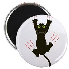 Clawing Black Cat Magnet