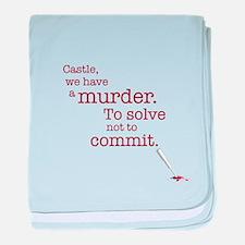 Murder to solve baby blanket