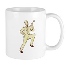 Drum Major Marching Band Leader Etching Mugs