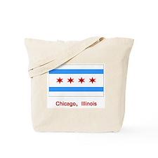 Chicago IL Flag Tote Bag