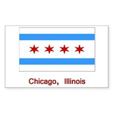 Chicago IL Flag Rectangle Decal