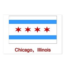 Chicago IL Flag Postcards (Package of 8)