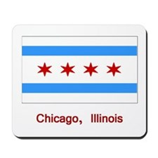 Chicago IL Flag Mousepad