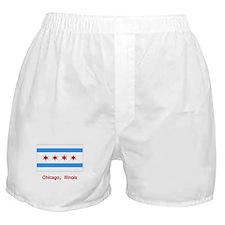 Chicago IL Flag Boxer Shorts