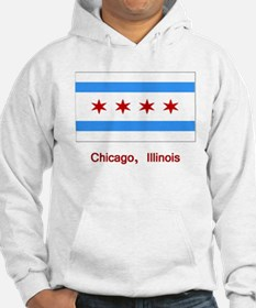 Chicago IL Flag Hoodie