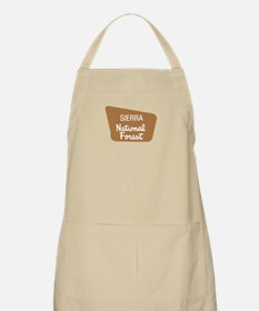 Sierra National Forest (Sign) BBQ Apron