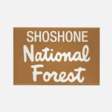Shoshone National Forest (Sign) Rectangle Magnet