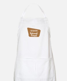 Sequoia National Forest (Sign) BBQ Apron