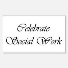 Celebrate SW (black) Rectangle Decal