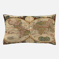 Antique World Map Pillow Case