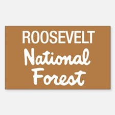 Roosevelt (Sign) National For Sticker (Rectangular