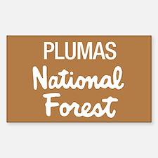 Plumas National Forest (Sign) Sticker (Rectangular