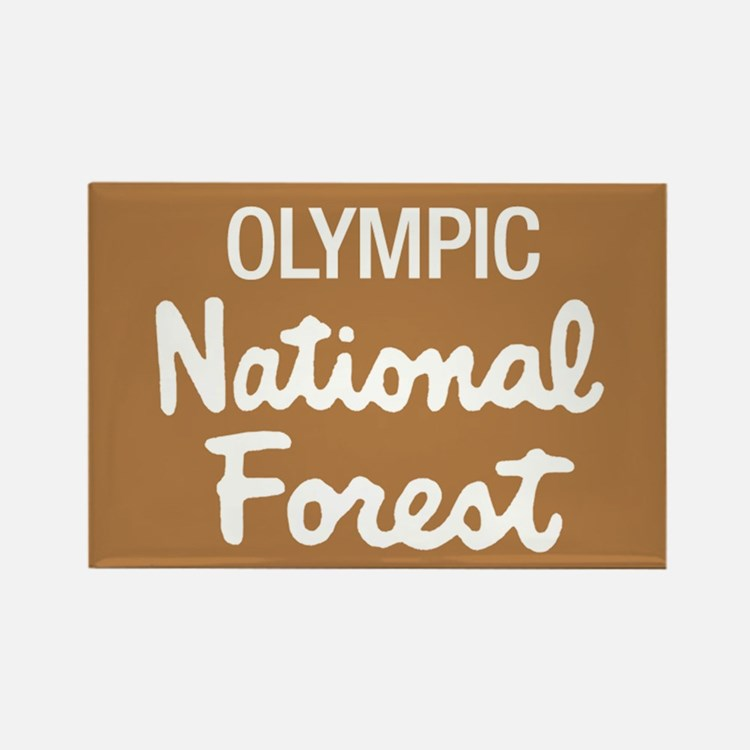 Olympic (Sign) National Fores Rectangle Magnet