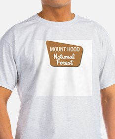 Mount Hood (Sign) National Fo Ash Grey T-Shirt