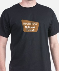 Mount Hood (Sign) National Fo T-Shirt