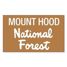 Mount Hood (Sign) National Fo Sticker (Rectangular
