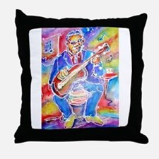 Blues man! Music, art! Throw Pillow