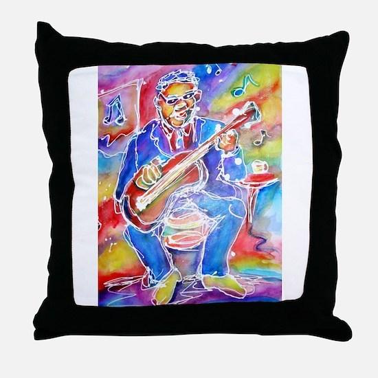 Blues man! Music, art! Throw Pillow