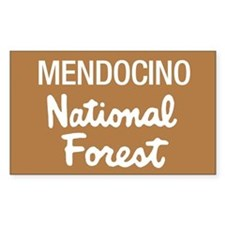 Mendocino National Forest (Sign) Sticker (Rectangu