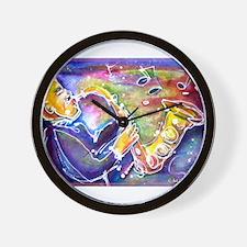 Music! Fun, colorful, sax! Wall Clock