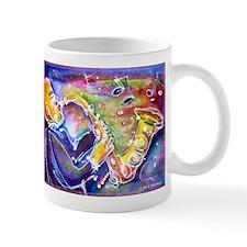 Music! Fun, colorful, sax! Mugs
