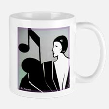 music! Music note! art deco! Mugs