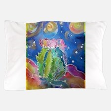cactus at night! soutwest art! Pillow Case