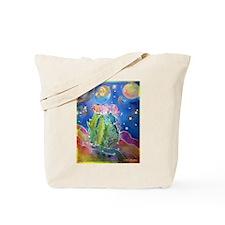 cactus at night! soutwest art! Tote Bag