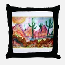 Desert! Southwest art! Throw Pillow