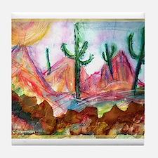 Desert! Southwest art! Tile Coaster
