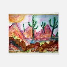 Desert! Southwest art! Throw Blanket