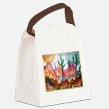 Desert! Southwest art! Canvas Lunch Bag