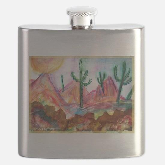 Desert! Southwest art! Flask
