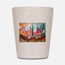 Desert! Southwest art! Shot Glass