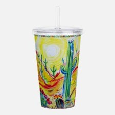 Saguaro Cactus, desert Southwest art! Acrylic Doub