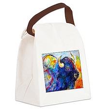 Buffalo, colorful art! Canvas Lunch Bag