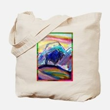 Buffalo, colorful, art! Tote Bag