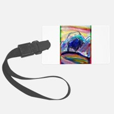 Buffalo, colorful, art! Luggage Tag