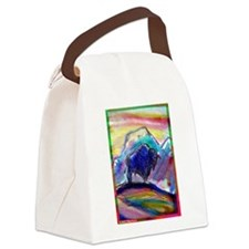 Buffalo, colorful, art! Canvas Lunch Bag