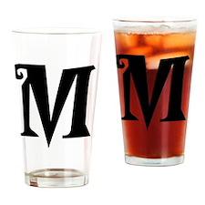 M Drinking Glass