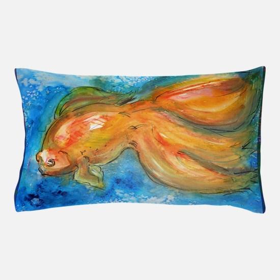 Goldfish, fun art! Pillow Case